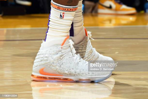 The sneakers worn by LeBron James of the Los Angeles Lakers during the game against the Dallas Mavericks on December 29 2019 at STAPLES Center in Los...