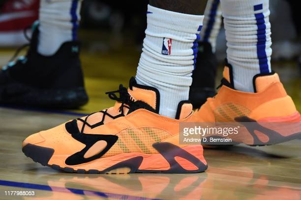 The sneakers worn by Montrezl Harrell of the LA Clippers during a game against the Golden State Warriors on October 24 2019 at Chase Center in San...
