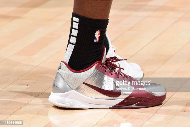 The sneakers worn by Montrezl Harrell of the LA Clippers during the game against the Houston Rockets on December 19 2019 at STAPLES Center in Los...