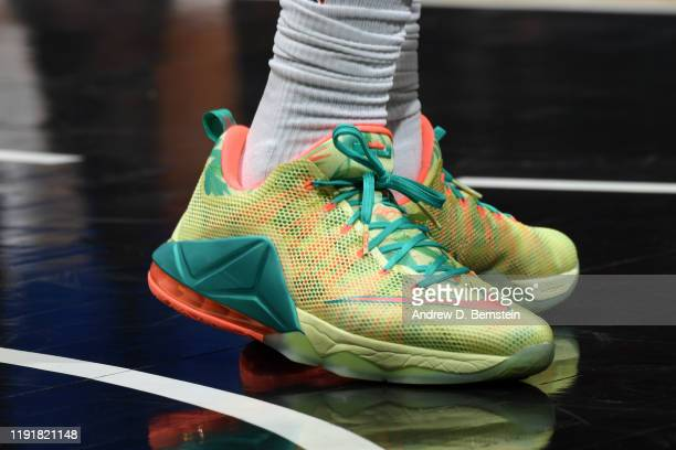 The sneakers worn by Montrezl Harrell of the LA Clippers during the game against the LA Clippers on January 4 2020 at STAPLES Center in Los Angeles...