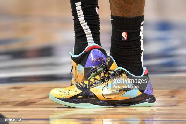 The sneakers worn by Montrezl Harrell of the LA Clippers during the game against the Orlando Magic on January 26 2020 at Amway Center in Orlando...