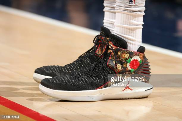 the sneakers worn by Otto Porter Jr #22 of the Washington Wizards are seen during the game against the Toronto Raptors on March 2 2018 at Capital One...