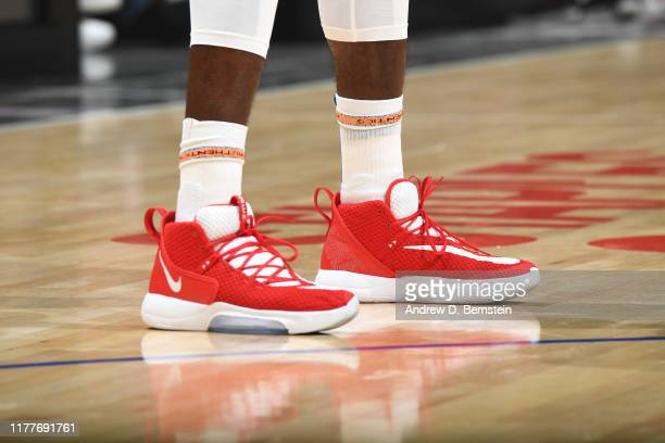 The sneakers worn by Patrick Patterson of the LA Clippers against the Los Angeles Lakers on October 22 2019 at STAPLES Center in Los Angeles...
