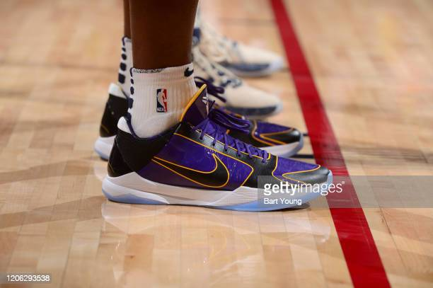 The sneakers worn by Paul Millsap of the Denver Nuggets against the Milwaukee Bucks on March 09 2020 at the Pepsi Center in Denver Colorado NOTE TO...
