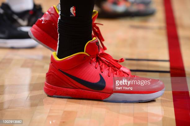 The sneakers worn by Paul Millsap of the Denver Nuggets during the game against the Minnesota Timberwolves on February 23 2020 at the Pepsi Center in...