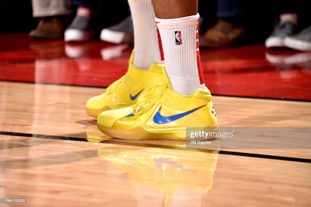 ee0544080b0 The sneakers worn by PJ Tucker of the Houston Rockets against the ...