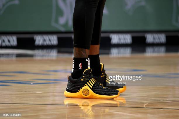 The sneakers worn by Taurean Prince of the Atlanta Hawks against the Chicago Bulls on January 23 2019 at the United Center in Chicago Illinois NOTE...