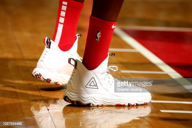 The sneakers worn Dwight Howard of the Washington Wizards against the New York Knicks on November 4 2018 at Capital One Arena in Washington DC NOTE...