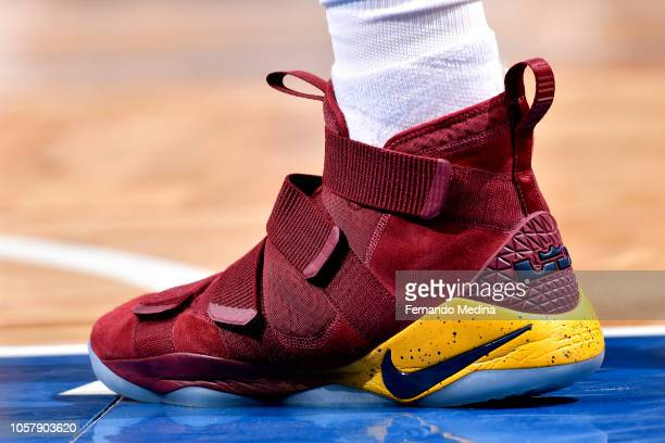 The sneakers wron by Tristan Thompson of the Cleveland Cavaliers against the Orlando Magic on November 5 2018 at Amway Center in Orlando Florida NOTE...