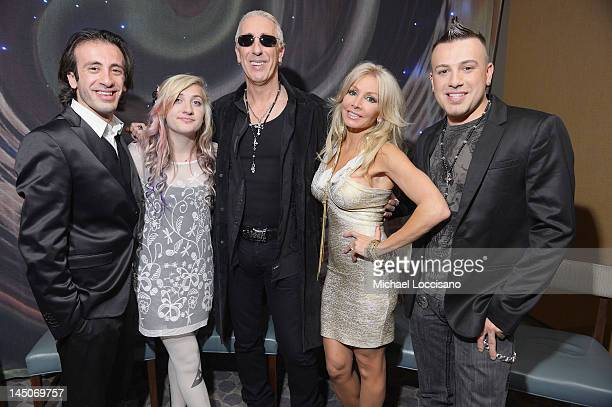The Snider family Shane Snider Cheyenne Snider TV Personality/Singer Dee Snider wife Suzette Snider and Jesse Snider attend an Exclusive Panel...