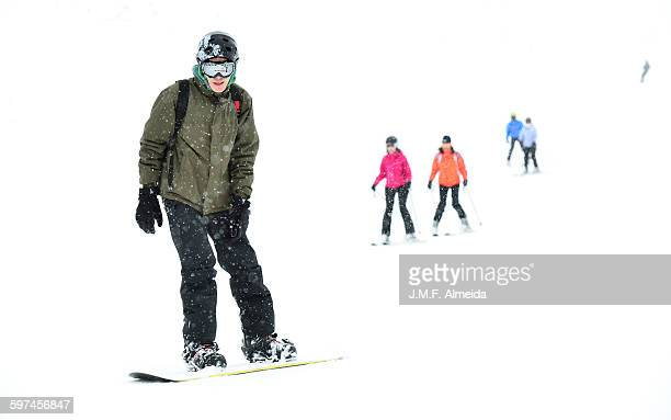 The Snowboarder and the girls