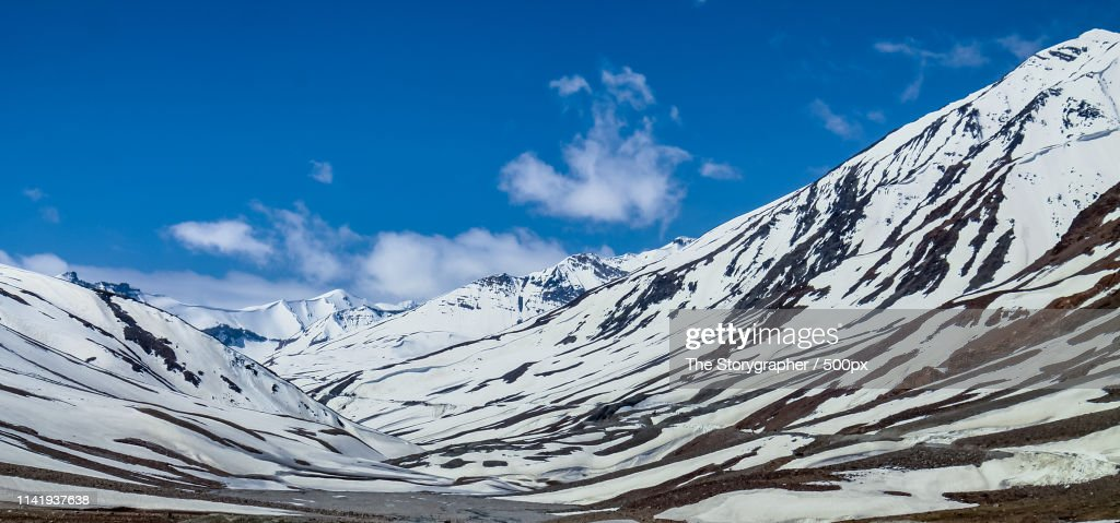 The Snowcapped Mountains : Stock Photo