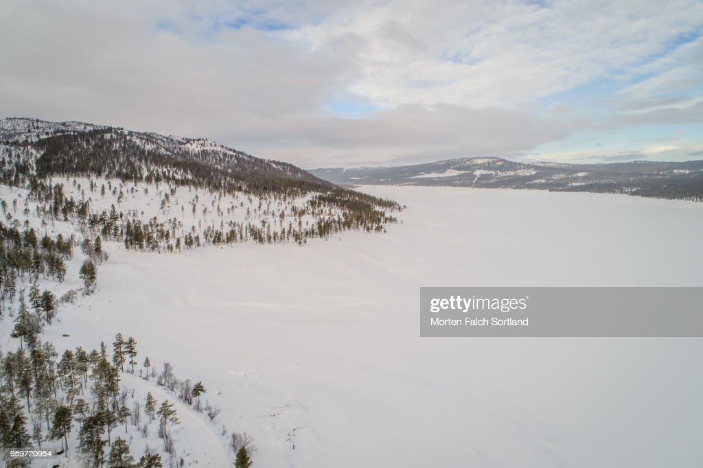 The Snow-Covered Mountain Village of Dagali, Norway Wintertime : Stock-Foto