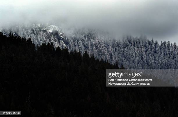 The snow-covered peaks of the Siskiyou Mountains in the Cascade-Siskiyou National Monument outside of Ashland, Ore., on Tuesday, February 20, 2018....