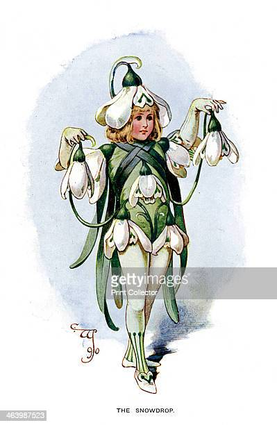 'The Snowdrop' 1899 A print from The Magazine of Art Cassell and Company Limited 1899