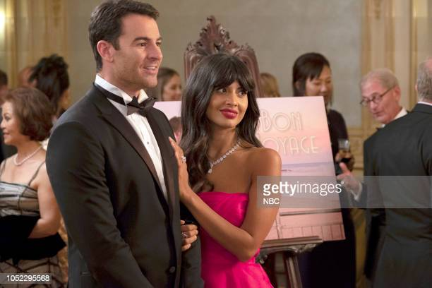 "The Snowplow"" Episode 304 -- Pictured: Ben Lawson as Larry Hemsworth, Jameela Jamil as Tahani --"