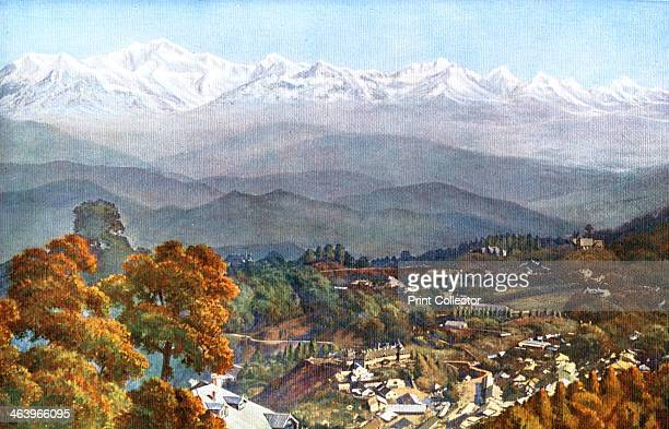 The snows from Jalapahar Darjeeling India early 20th century From Views of India in Colour published by The Times of India Offices