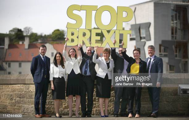 The SNP launch their European election campaign and their party's six candidates Alex Kerr Margaret Ferrier Aileen McLeod Alyn Smith First Minister...