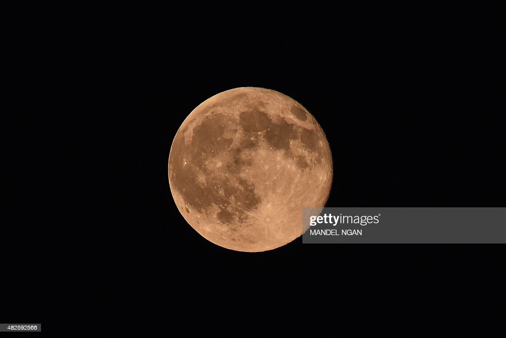 US-ASTRONOMY-BLUE MOON : News Photo