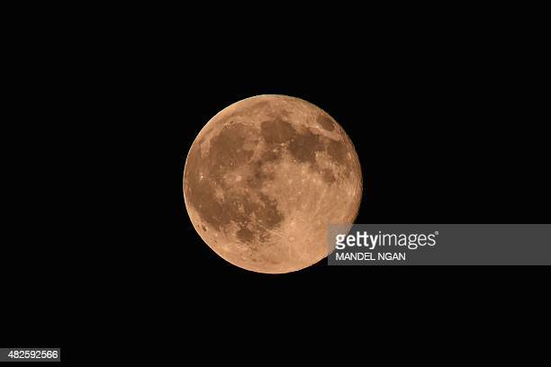 The socalled blue moon is seen above Washington on July 31 2015 The blue moon is the second appearance of a full moon in the same calendar month The...