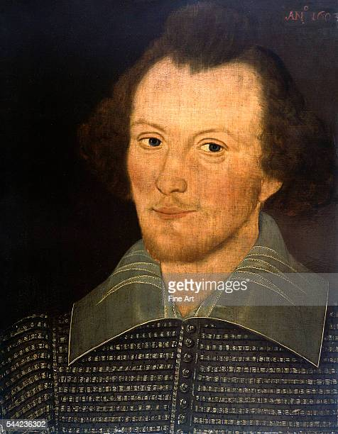 The socalled Sanders Portrait purported to be of William Shakespeare by John or Thomas Sanders scene painters in the theater company of Shakespeare...