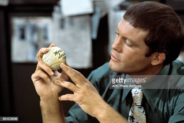 MILLER 'The Social Worker' Season Two 9/18/1975 Max Gail examines a World Series baseball 'created' by a master forger
