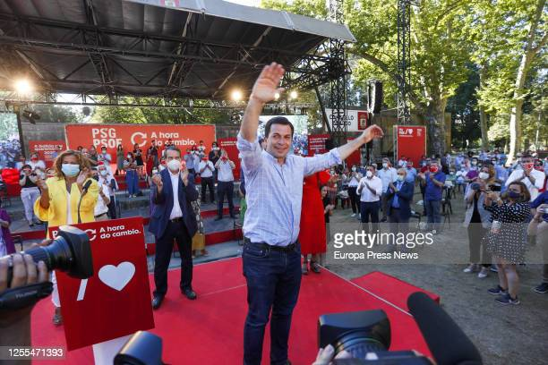 The socialist candidate to the Xunta Gonzalo Caballero is seing at the act of election campaign closure on July 10 2020 in Vigo Pontevedra Galicia...