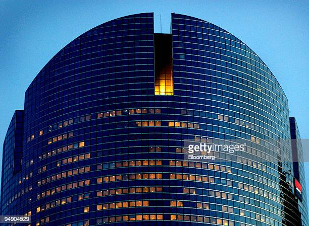 The Societe Generale headquarters stand in the La Defense business district outside Paris France on Friday Feb 1 2008 As French politicians go to the...