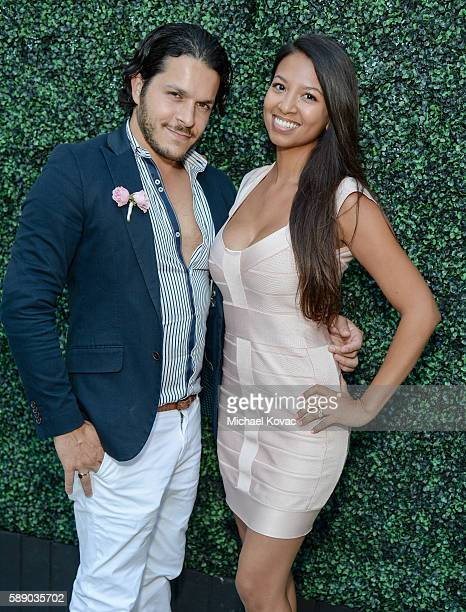 The Society Group's Alexander Ali and Alexis Roulette celebrate the Los Angeles launch of Moet Ice Imperial Rose at the Riviera White House on August...