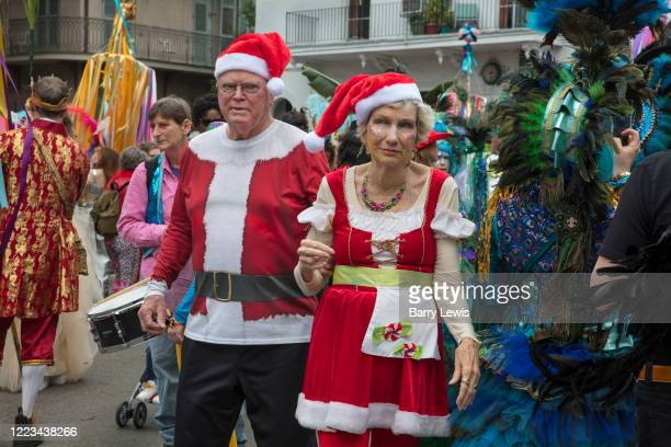 The Society of Saint Anne parade during Mardi Gras on 25th February 2020 in Bywater district of New Orleans, Louisiana, United States. Mardi Gras is...