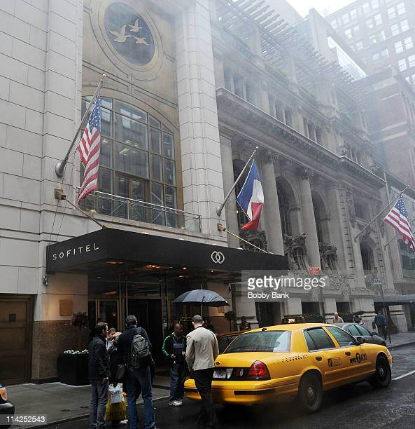 The Sofitel Hotel in New York City where International Monetary Fund Managing Director Dominique StraussKahn had been staying is pictured on May 16...