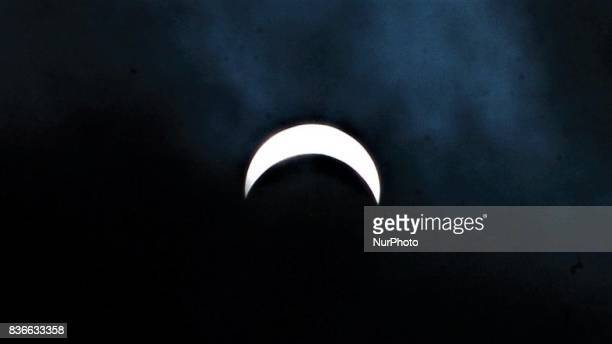 The solar eclipse from Philadelphia PA on August 21 2017