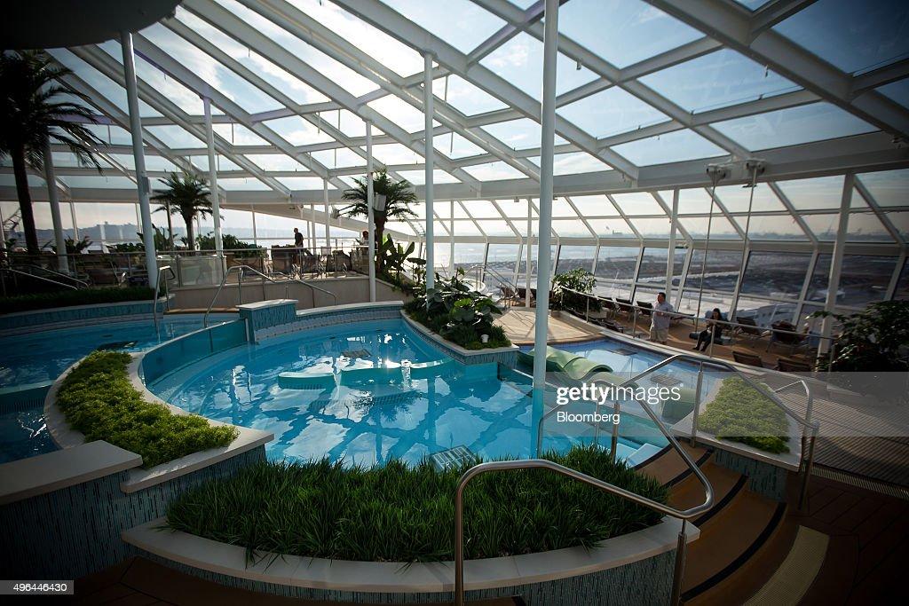 The Solarium Overlooks Front Of Royal Caribbean Cruises Ltd Quantum Class Cruise