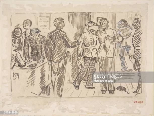 The Soldier's TearOld Song circa 1879 Artist Charles Samuel Keene