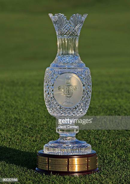 The Solheim Cup Trophy at the 2009 Solheim Cup Matches at the Rich Harvest Farms Golf Club on August 23 2009 in Sugar Grove Ilinois