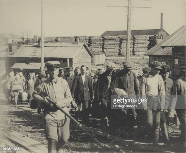 The Solovki prison camp , 1927-1928. Found in the collection of Memorial, historical and civil rights society.