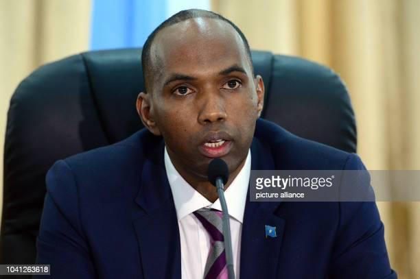 The Somalian prime minister Hassan Ali Khairei in Mogadischu Somalia 2 May 2017 Photo Maurizio Gambarini/dpa | usage worldwide