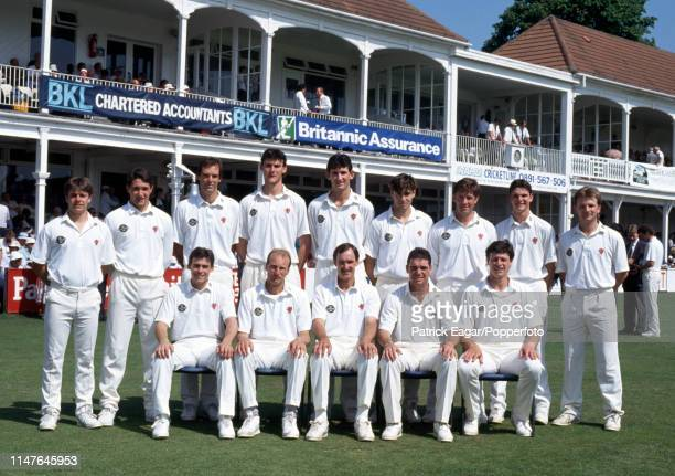 The Somerset team before the Benson and Hedges Cup Semi Final between Hampshire and Somerset at the County Ground Southampton 10th June 1992 Pictured...
