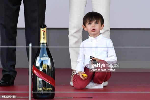 The son of Charlotte Casiraghi of Monaco Raphael Elmaleh during the Grand Prix of Monaco on May 13 2017 in Monaco Monaco