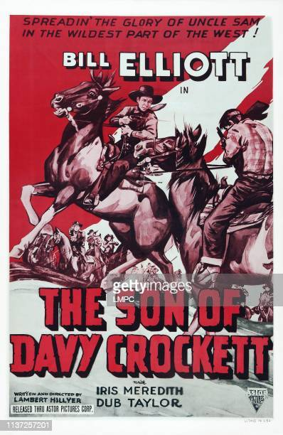 The Son Of Davy Crockett poster poster art Bill Elliott 1941