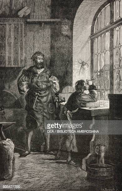 The son of Jacob Metius accidentally discovering how to build the astronomical telescope illustration by C Gilbert from Know Yourself Notions of...