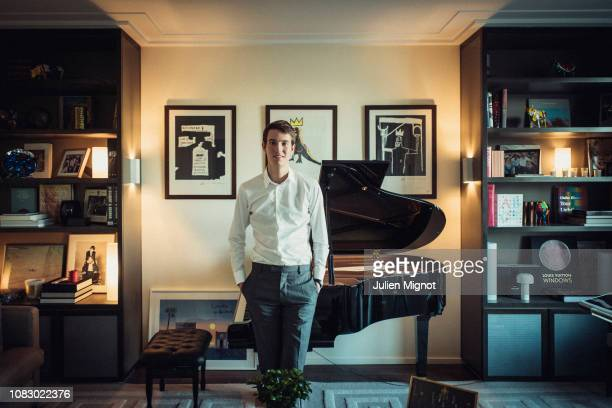 The son of LVMH chairman Bernard Arnault Alexandre Arnault poses for a portrait on September 2018 in Paris France