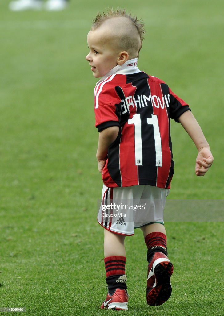 The son of Zlatan Ibrahimovic during the Serie A match between AC Milan and Novara Calcio at Stadio Giuseppe Meazza on May 13, 2012 in Milan, Italy.