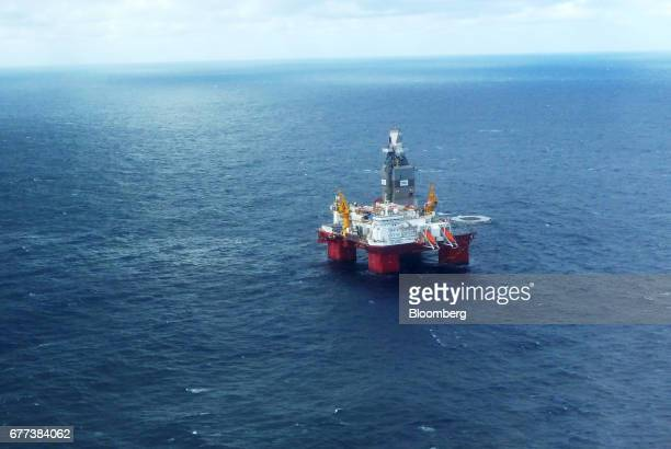 The Songa Offshore Songa Enabler rig operated by Statoil ASA operates in the Snohvit gas field in the Barents Sea off the coast of northern Norway on...