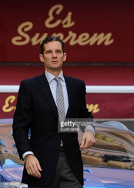 The soninlaw of Spain's King Juan Carlos Inaki Urdangarin arrives at a court in Palma de Mallorca on the Spanish Balearic Island of Mallorca on...
