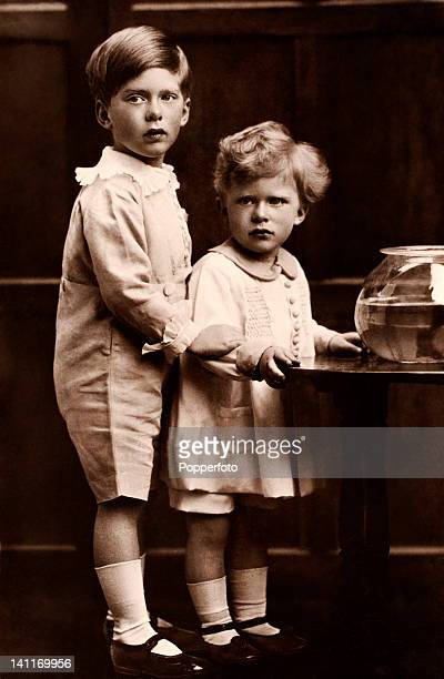 The sons of HRH Princess Mary, The Honorable George Henry Hubert Lascelles, later the 7th Earl of Harewood, and his younger brother, the Honorable...