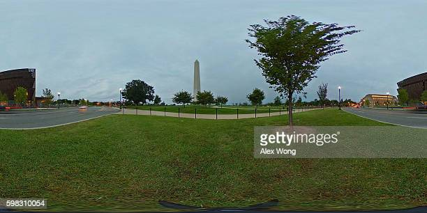 The soontobe opened Smithsonian National Museum of African American History and Culture and the Washington Monument are seen September 1 2016 in...