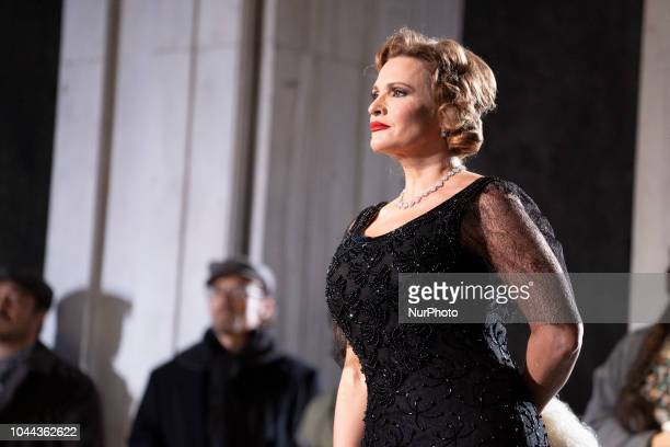 the soprano Ainhoa Arteta during the opera KATIUSKA at the Teatro de la Zarzuela in Madrid Spain October 1 2018