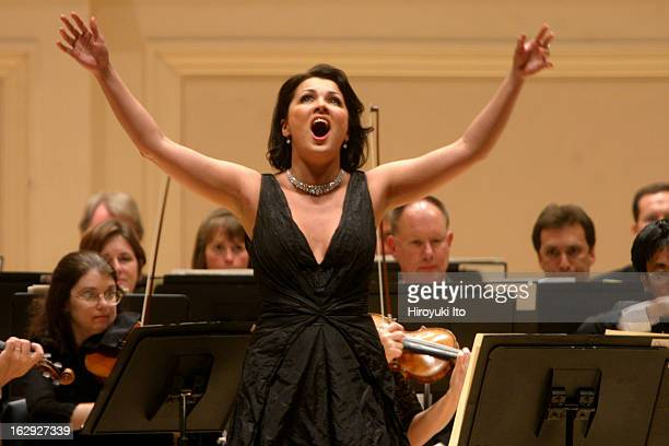 The soprano Anna Netrebko performing at Carnegie Hall on Wednesday night May 30 2007This imageThe soprano Anna Netrebko performing Donizetti's...