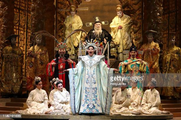 The soprano Christine Goerke in Puccini's Turandot at the Metropolitan Opera House on Monday September 30 2019